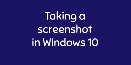 Shortcuts for taking screenshot in Windows 10