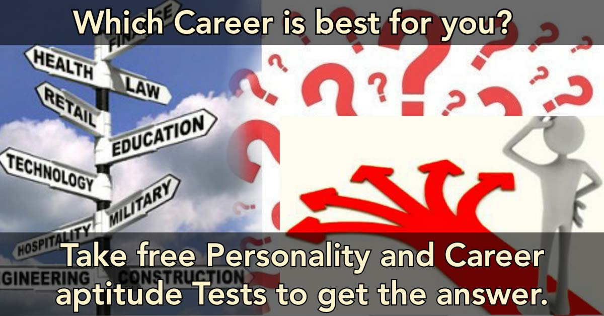 Which Career? Free Personality and Career Aptitude Tests